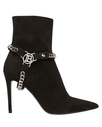 Ora Chain Strap Ankle Boots, BLACK, hi-res