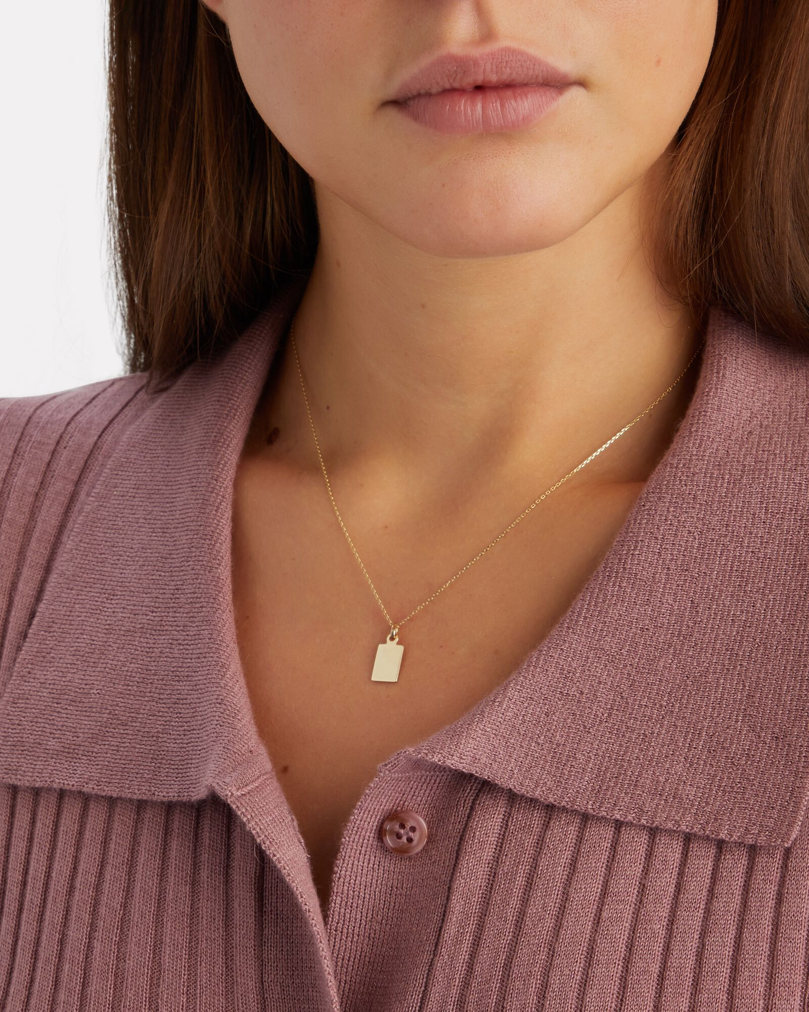 Klint ID Tag Chain Necklace, GOLD, hi-res
