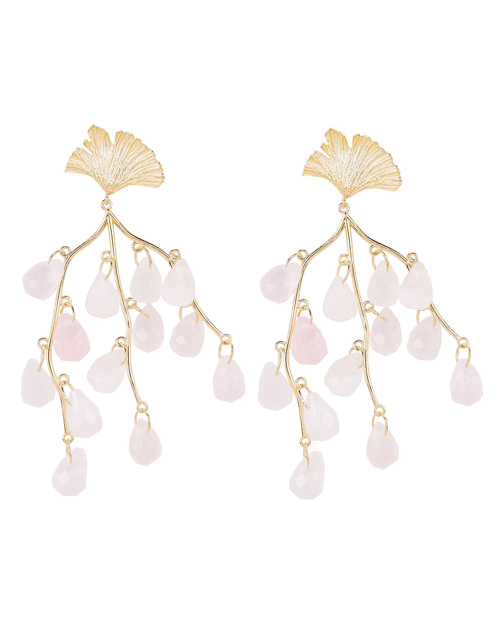 Caress of the Roses Earrings, PINK, hi-res