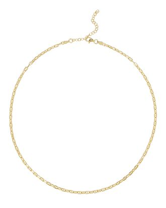 Vintage Chain-Link Necklace, GOLD, hi-res
