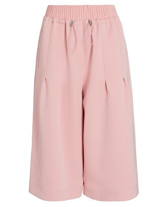 Twill Pull-On Culottes, PINK, hi-res