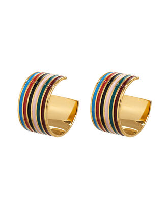 Margot Rainbow Hoop Earrings, RAINBOW/GOLD, hi-res