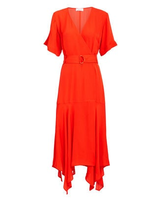 Claire Midi Dress, RED, hi-res