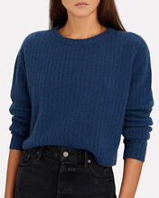 Recycled Wool-Cashmere Sweater, BLUE-DRK, hi-res