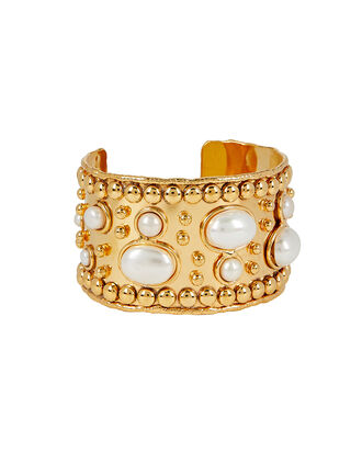 White Wonder Byzance Pearl Cuff, GOLD, hi-res