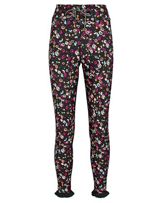 Gardenia Floral Leggings, BLACK, hi-res