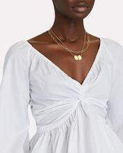 Onira Poplin Off-The-Shoulder Blouse, WHITE, hi-res