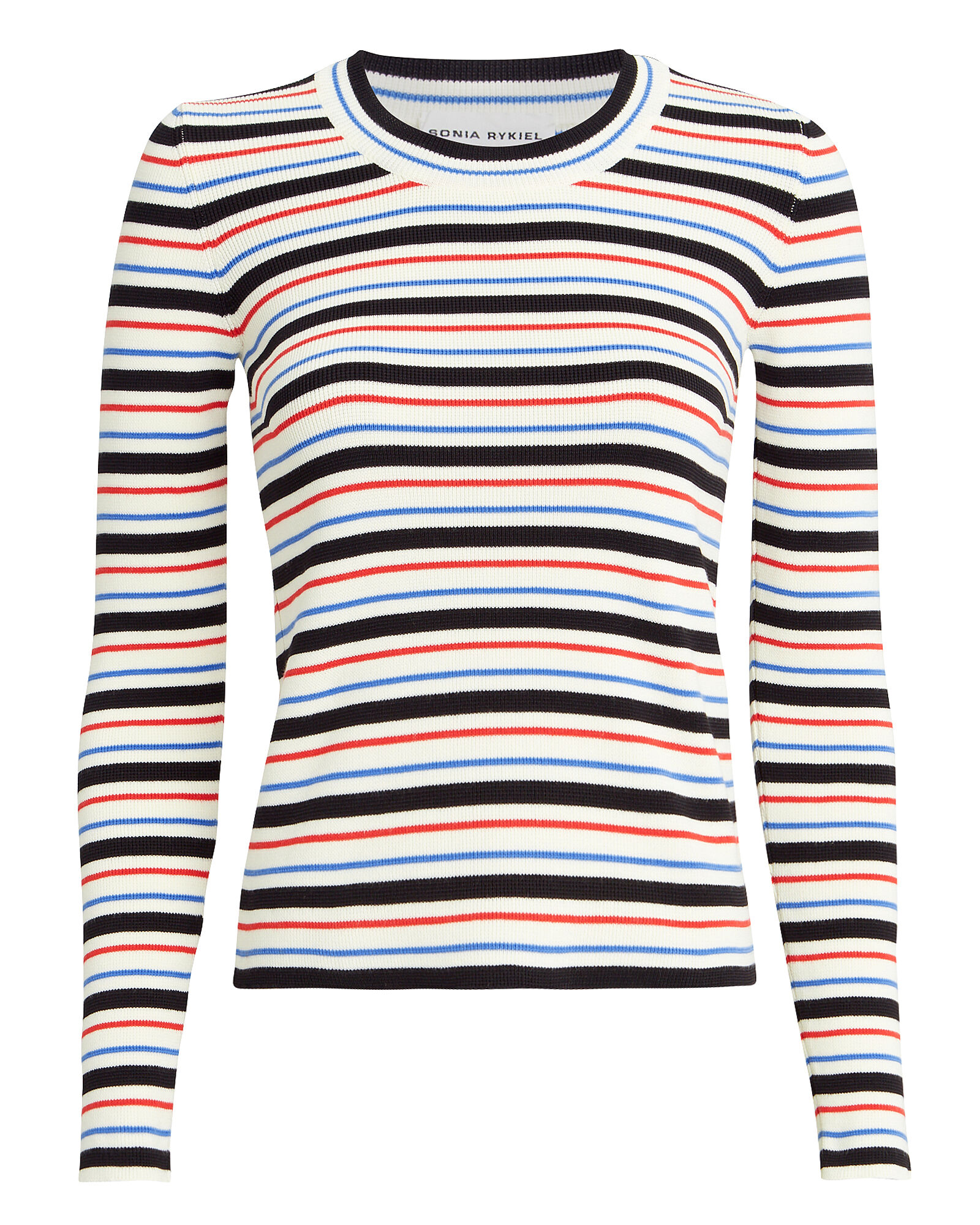 Striped Knit Sweater, MULTI, hi-res