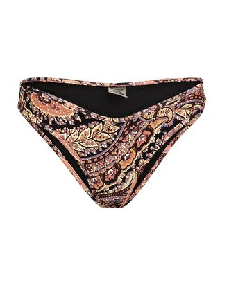 Lulu Paisley Bikini Bottoms, BLACK/BLUSH, hi-res