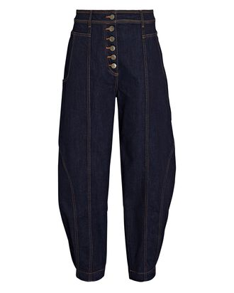 Keaton Tapered High-Rise Jeans, DARK WASH DENIM, hi-res