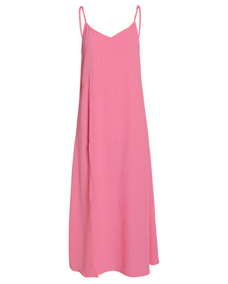 Jeanette Slit Front Slip Dress, PEONY PINK, hi-res