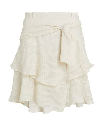 Rakley Ruffled Mini Skirt, IVORY, hi-res