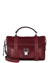 PS1 Suede Tiny Crossbody, RED-DRK, hi-res