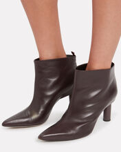 Theo Leather Booties, PURPLE-DRK, hi-res