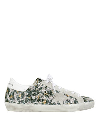 Superstar Leopard Glitter Low Top Sneakers, LEOPARD/WHITE, hi-res
