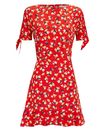 Daphne Floral Mini Dress, RED FLORAL, hi-res