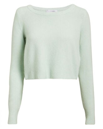 Julia Cropped Sweater, MINT GREEN, hi-res
