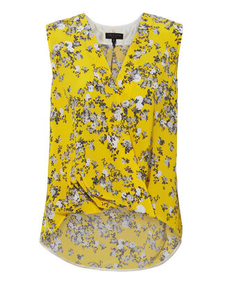 Victor Garden Floral Tank, YELLOW, hi-res