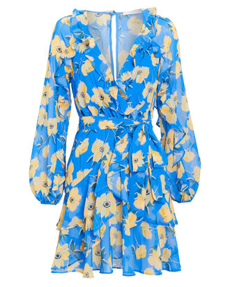 Sicily Sway Mini Dress, BLUE/YELLOW, hi-res