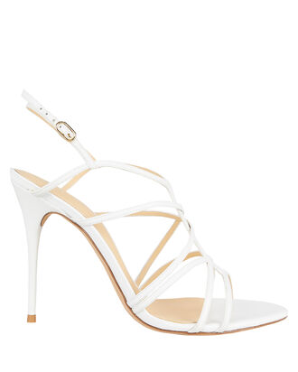 Emma 100 Leather Sandals, WHITE, hi-res