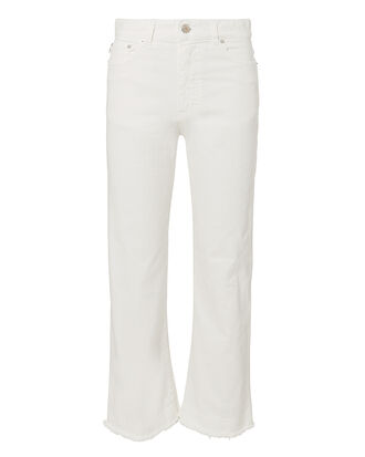 Viva Cropped Flare Jeans, WHITE, hi-res