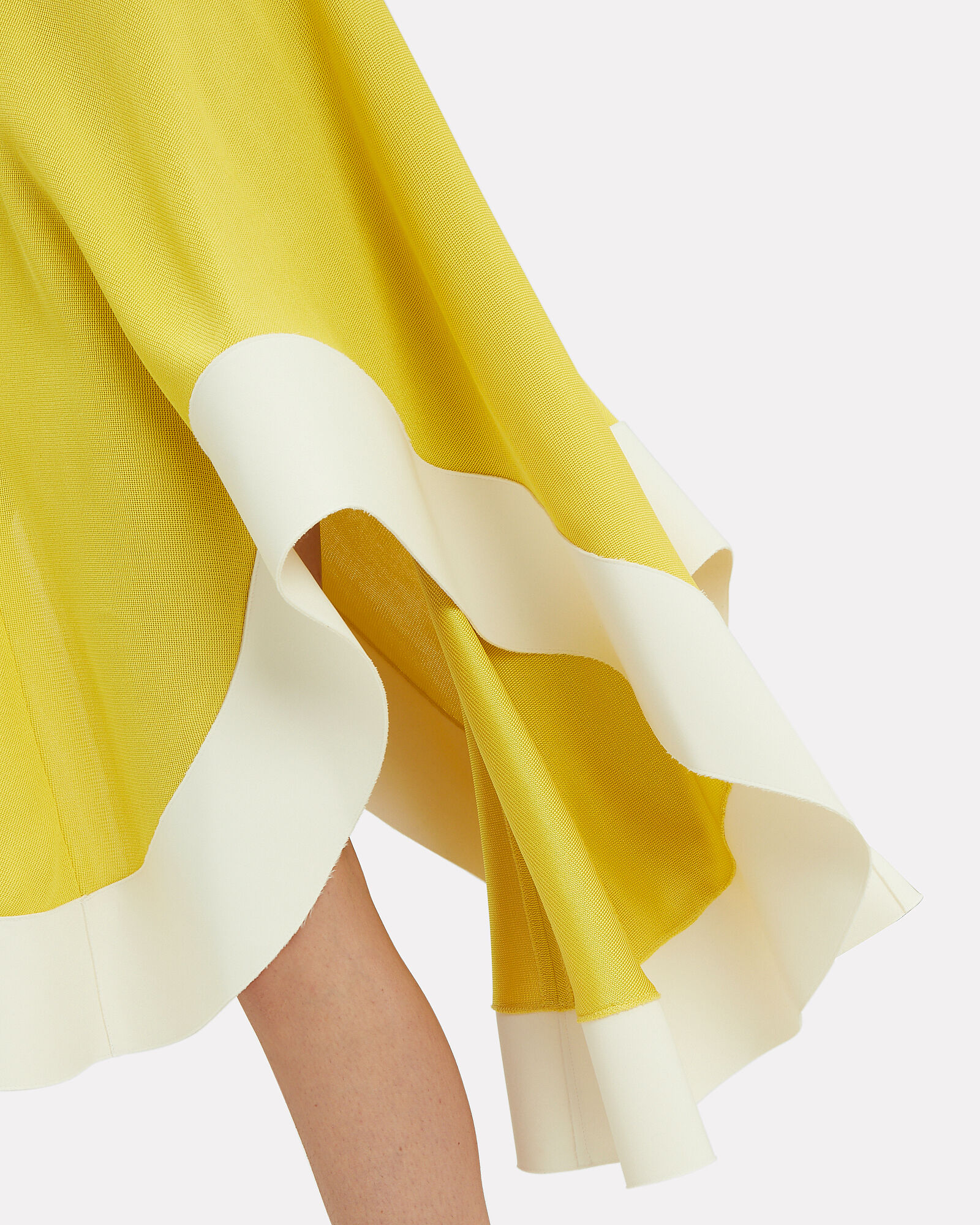 Chartreuse Jersey Flamenco Dress, YELLOW, hi-res