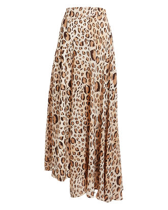 Elvie Leopard Pleated Skirt, BROWN/BLACK, hi-res
