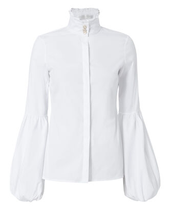 Jacqueline White Blouse, WHITE, hi-res