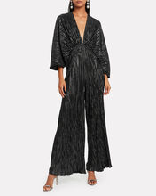 No. 46 Raindrops Pleated Jumpsuit, BLACK, hi-res