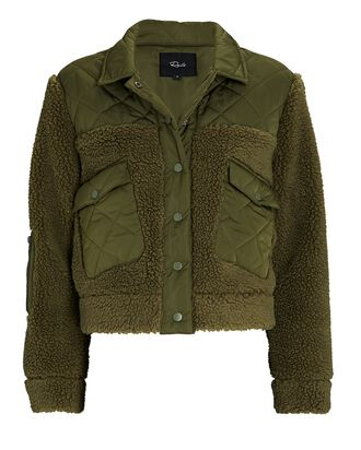 Peyton Quilted Fleece Jacket, OLIVE/ARMY, hi-res