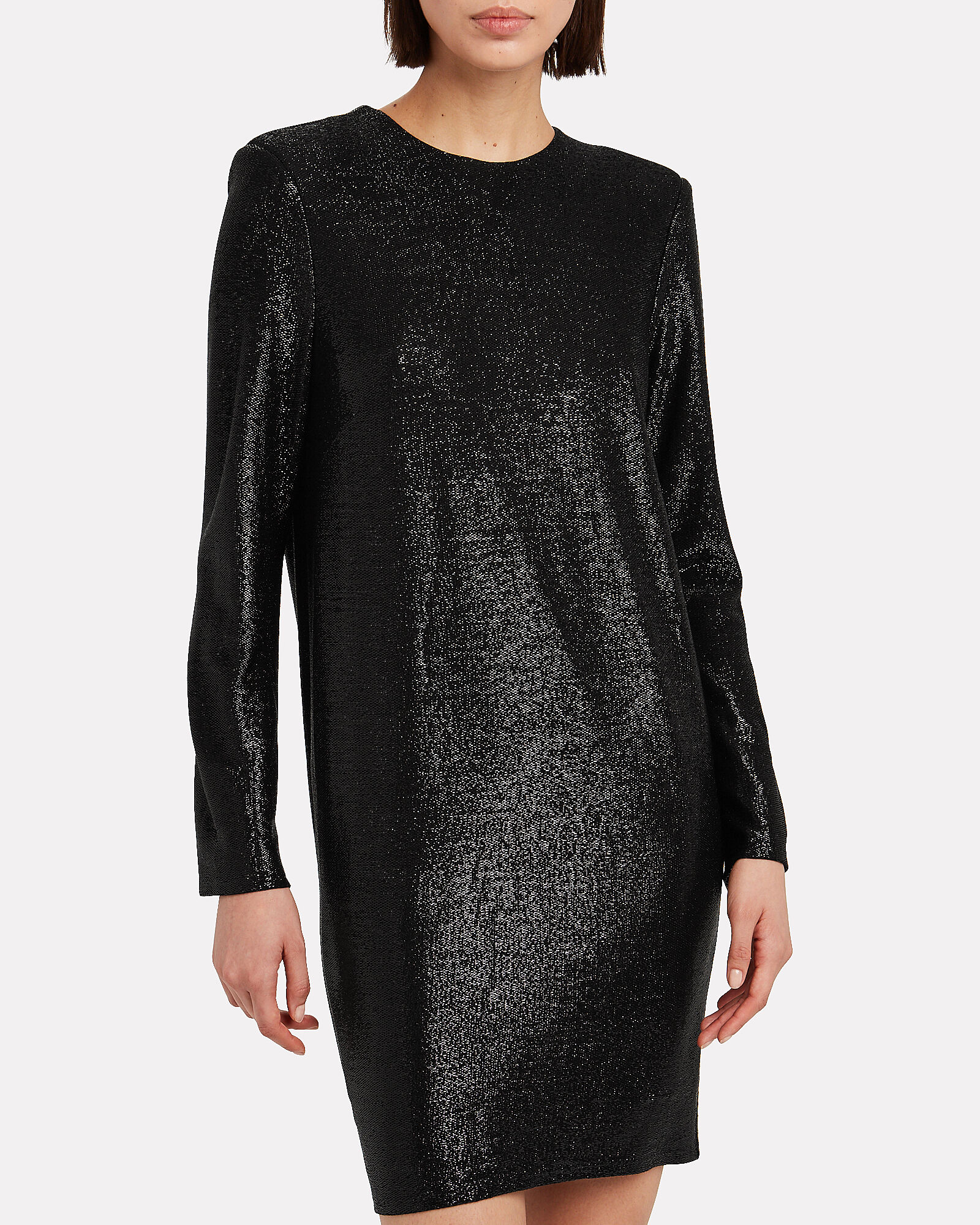 Shimmer Jersey Mini Dress, BLACK, hi-res