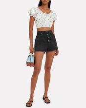 Le Vintage Denim Shorts, BLACK, hi-res