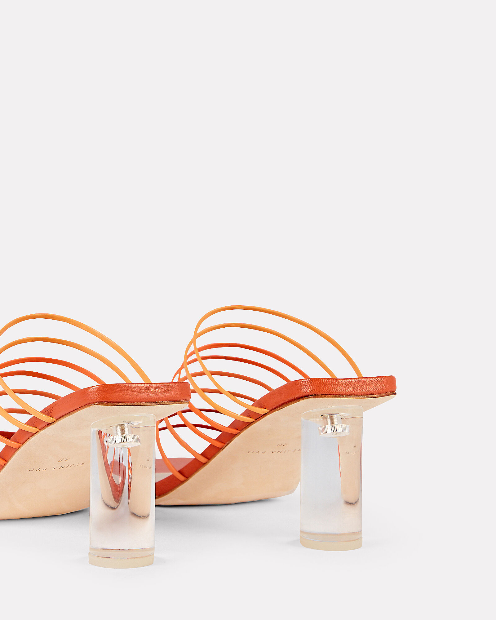 Zoe Strappy Leather Sandals, ORANGE, hi-res
