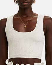 Hart Scoop Neck Crop Top, PALE GREY, hi-res