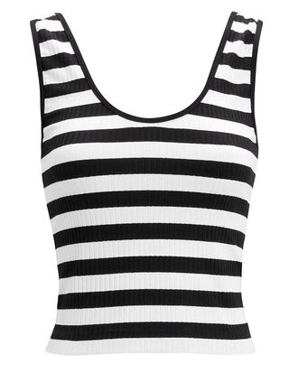 Lyla Striped Tank, BLACK/WHITE, hi-res