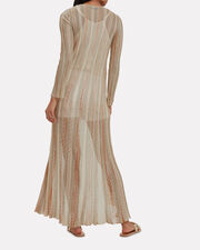 Gold Striped Lurex Duster, GOLD, hi-res