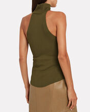 Alloy Ribbed Sleeveless Turtleneck Top, OLIVE, hi-res