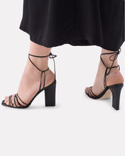 Daisy Strappy Leather Sandals, BLACK, hi-res