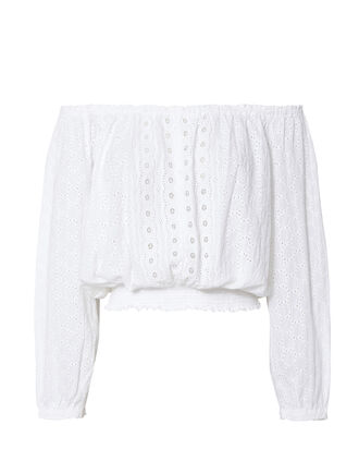 Adriana Off-The-Shoulder Top, WHITE, hi-res