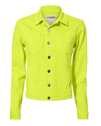 Celine Yellow Denim Jacket, YELLOW, hi-res
