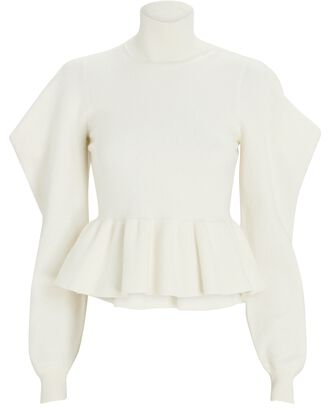 Rosa Brushed Wool Turtleneck Sweater, IVORY, hi-res