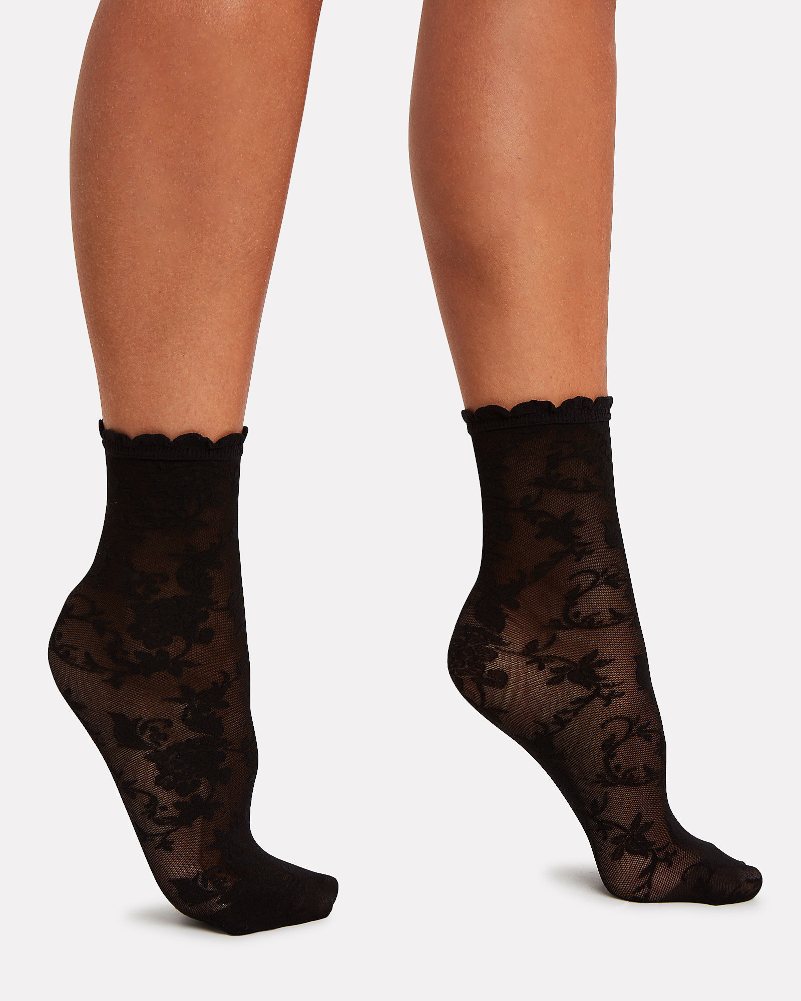 Charming Lace Socks, BLACK, hi-res