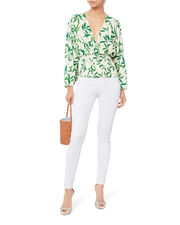 Sadie Blouse, WHITE, hi-res