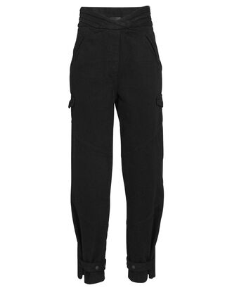 Dallas High-Rise Cargo Jeans, BLACK, hi-res