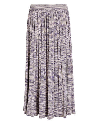 Marlie Pleated Knit Midi Skirt, PURPLE-LT, hi-res