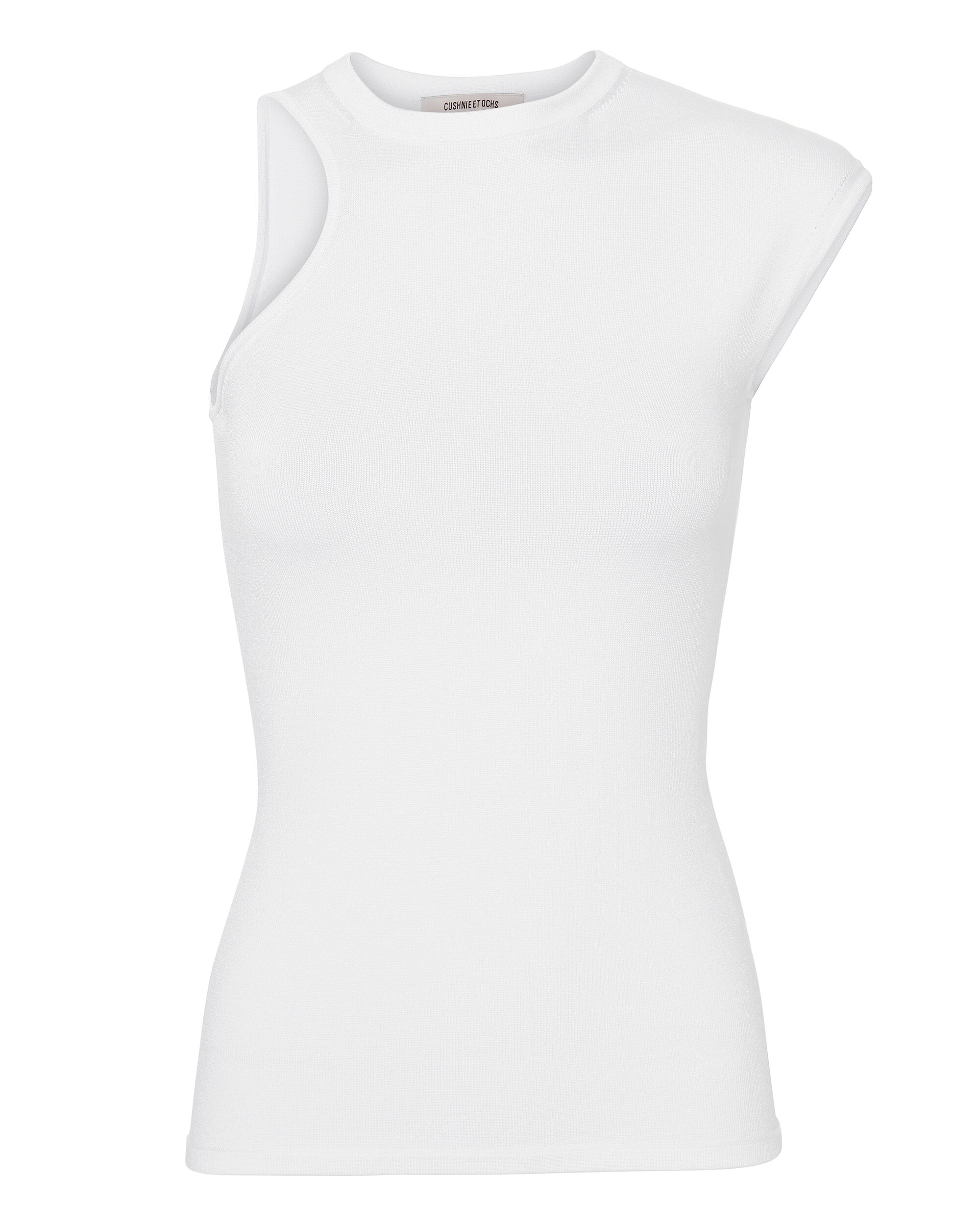 Amata Cutout White Top, WHITE, hi-res