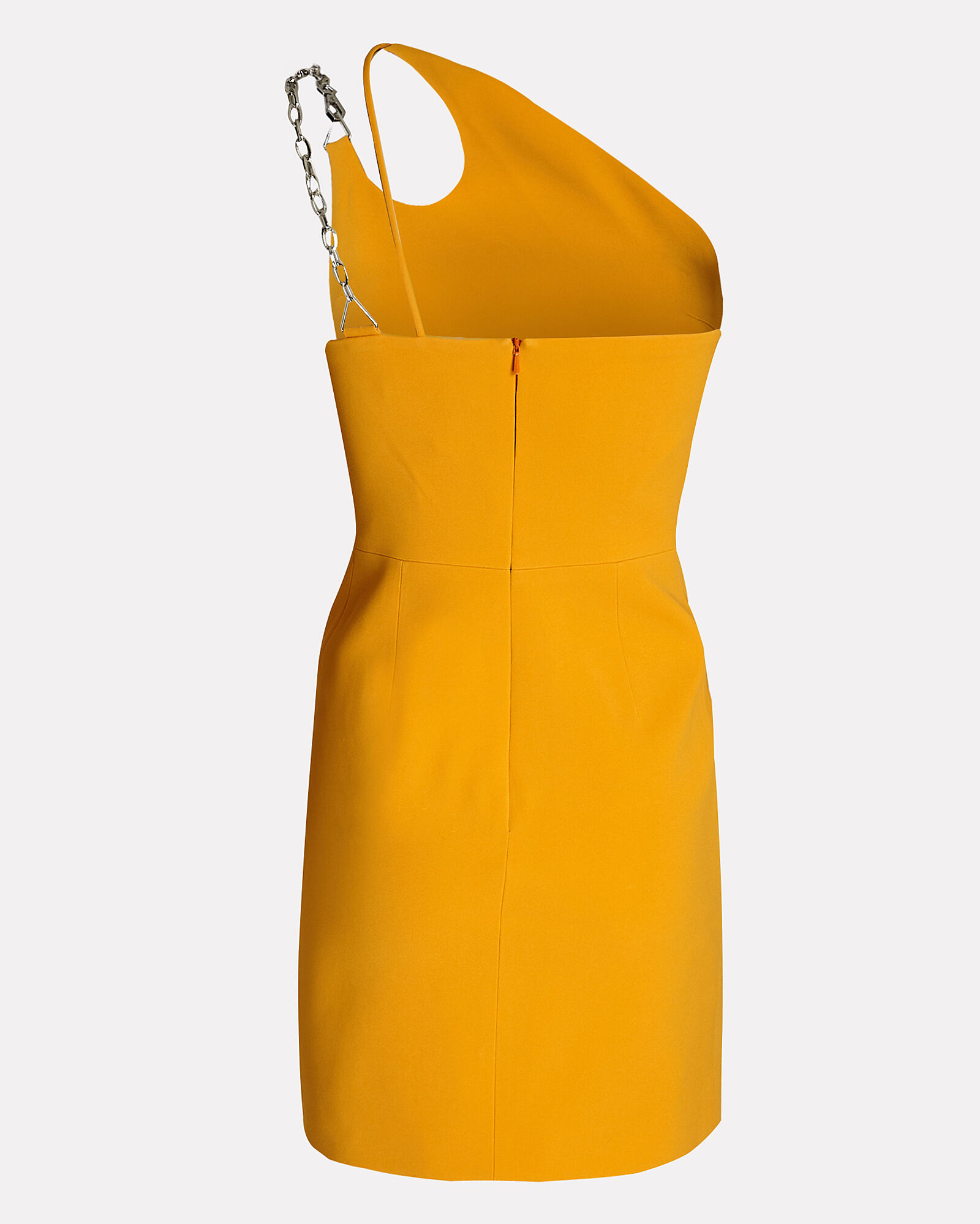 One-Shoulder Cady Mini Dress, ORANGE, hi-res