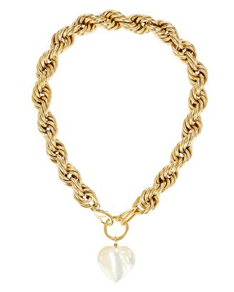 Mini Showstopper Chain-Link Necklace, GOLD, hi-res