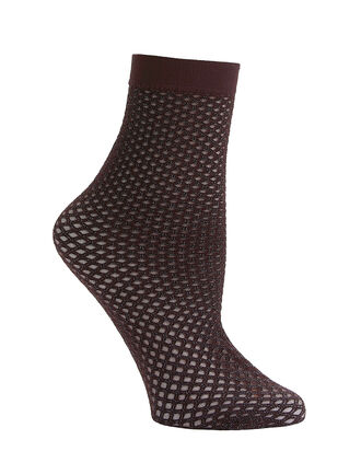 Metallic Double Net Dark Purple Socks, PURPLE-DRK, hi-res