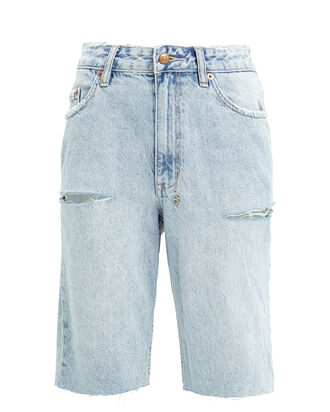 App-Laye Denim Shorts, LIGHT WASH DENIM, hi-res